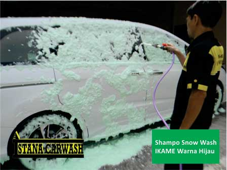 shampo snow wash ikame warna hijau BIANG SHAMPO SNOW WASH DAN ICE CREAM