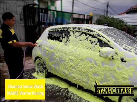 shampo snow wash ikame warna kuning BIANG SHAMPO SNOW WASH DAN ICE CREAM