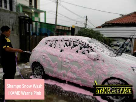 shampo snow wash ikame warna pink BIANG SHAMPO SNOW WASH DAN ICE CREAM