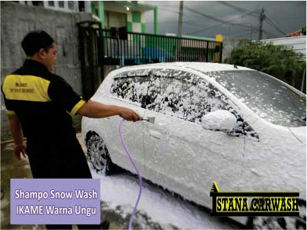 shampo snow wash ikame warna ungu BIANG SHAMPO SNOW WASH DAN ICE CREAM